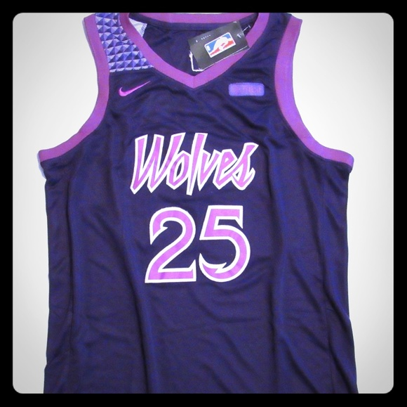 new product 80348 21876 Derrick Rose Prince City purple rain jersey NWT